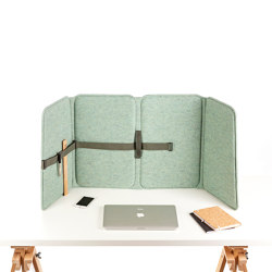 VLINDER acoustic flexscreen, wool felt green | Table accessories | StudioVIX