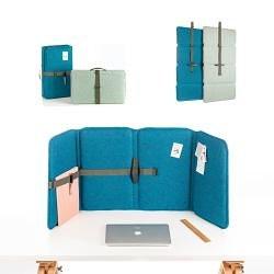VLINDER acoustic flexscreen, Recycled PET felt blue | Table accessories | StudioVIX