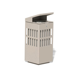 Litter bin 1510 with roof top | Waste baskets | BENKERT-BAENKE