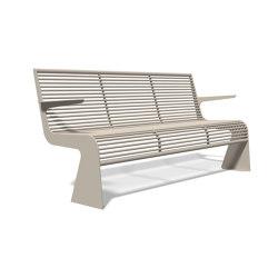 Siardo 20 R Bench with armrests 1800 | Bancos | BENKERT-BAENKE