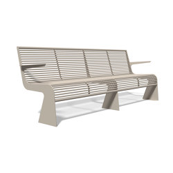 Siardo 20 R Bench with armrests 2400 | Bancos | BENKERT-BAENKE