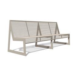 Siardo 30 R Bench without armrests 2400 | Bancos | BENKERT-BAENKE