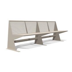 Siardo 40 R Bench without armrests 2400 | Benches | BENKERT-BAENKE