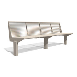 Siardo 50 R Bench without armrests 2450 | Bancos | BENKERT-BAENKE
