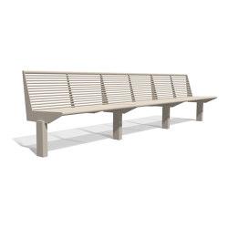 Siardo 50 R Bench without armrests 3650 | Panche | BENKERT-BAENKE