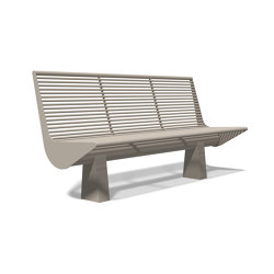Siardo 60 R Bench without armrests 1800 | Bancos | BENKERT-BAENKE