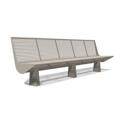 Siardo 60 R Bench without armrests 3000 | Bancos | BENKERT-BAENKE