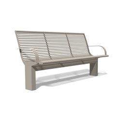 Siardo 70 R Bench with armrests 1800 | Bancos | BENKERT-BAENKE
