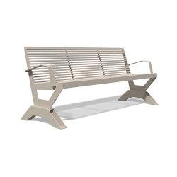 Sicorum M 1100 Bench with armrests 1900 | Bancos | BENKERT-BAENKE