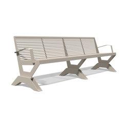 Sicorum M 1100 Bench with armrests 2500   Panche   BENKERT-BAENKE