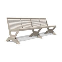 Sicorum M 1100 Bench without armrests 2500 | Bancos | BENKERT-BAENKE
