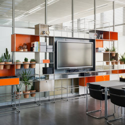 USM Haller Media with World of Plants | Pure Orange | Multimedia sideboards | USM