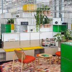 USM Haller Reception with World of Plants | Pure White | Plant pots | USM