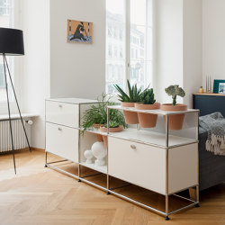 USM Haller Sideboard with World of Plants | Pure White | Sideboards | USM