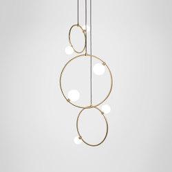 Drops Cluster - 3 Piece | Suspended lights | Marc Wood Studio