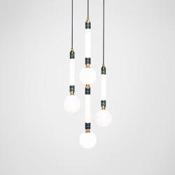 Greenstone Cluster - 3 Piece | Lámparas de suspensión | Marc Wood Studio