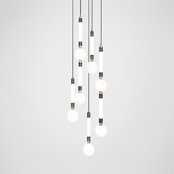 Greenstone Cluster - 5 Piece | Suspended lights | Marc Wood Studio