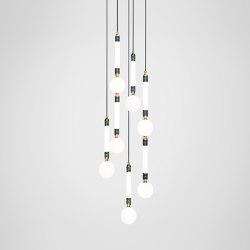Greenstone Cluster - 5 Piece   Suspended lights   Marc Wood Studio