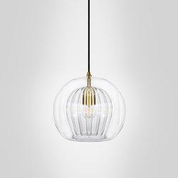 Pleated Crystal Pendant - Clear | Suspended lights | Marc Wood Studio