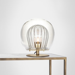 Pleated Crystal Desk Lamp - Clear | Table lights | Marc Wood Studio
