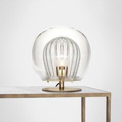 Pleated Crystal Desk Lamp - Clear | Table lights | Marc Wood Studio