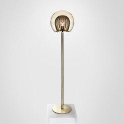 Pleated Crystal Floor Lamp - Smoke | Standleuchten | Marc Wood Studio