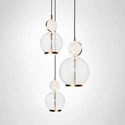 Rosa Cluster - 3 Piece | Suspended lights | Marc Wood Studio