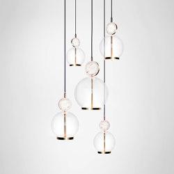 Rosa Cluster - 5 Piece | Suspended lights | Marc Wood Studio