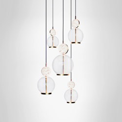Rosa Cluster - 5 Piece | Suspended lights | Marc Wood Studio