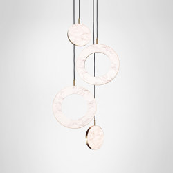 Rosa Ring - 4 Piece | Suspended lights | Marc Wood Studio