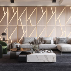 Deta Panel Grey Lacquer Matte & Oak | Wood panels | Mikodam