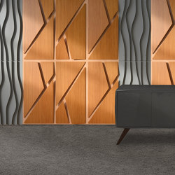 Deta Panel Grey Lacquer Matte & Teak | Wood panels | Mikodam