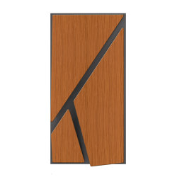 Deta Panel Grey Lacquer Matte & Teak | Wood panels | Mikodam