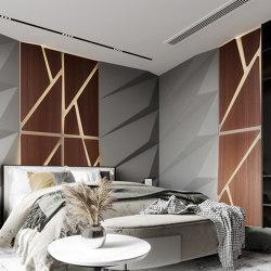 Deta Panel Grey Lacquer Matte & Walnut | Wood panels | Mikodam