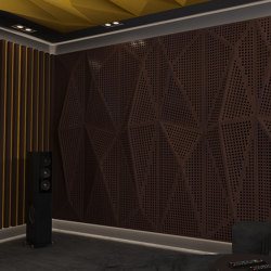 Geta Panel-A Walnut With Large Perforation | Wood panels | Mikodam