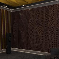 Geta Panel-B Walnut With Large Perforation | Wood panels | Mikodam