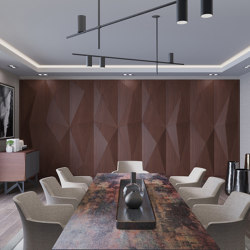 Geta Panel-B Walnut With No Perforation | Wood panels | Mikodam