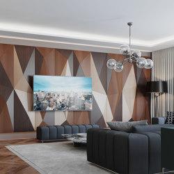 Geta Panel Walnut & Oak & Teak With Mix Perforation | Wood panels | Mikodam