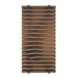 Leda Panel Teak & Grey Lacquer Matte | Wood panels | Mikodam
