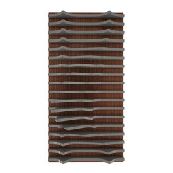 Leda Panel Walnut & Grey Lacquer Matte | Wood panels | Mikodam