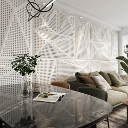 Pira Panel B White Lacquer Matte With 2Cm Perforation | Sound absorbing wall systems | Mikodam