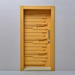 Sapa Door With One Of Natural Wood Veneer (Walnut, Teak, Oak, Whitened Oak), Lacquer (Anthracite, Grey, White)   Entrance doors   Mikodam