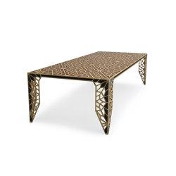 Sela Table Oak Border & Walnut Inlay Veneered (Nmc1) | Dining tables | Mikodam
