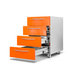 Health / hospital | Orange drawer set | Pedestals | AGMA
