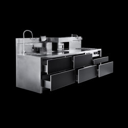 C3 | Compact kitchens | Marrone + Mesubim