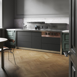 C2 | Compact kitchens | Marrone + Mesubim