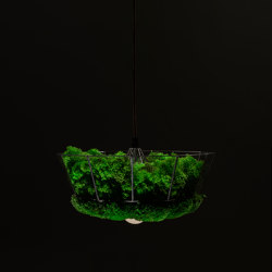 Moss Lamp | Reindeer And Ball Moss | Suspended lights | Ekomoss