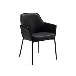 Grace | Ebony with steel frame | Chairs | FREIFRAU MANUFAKTUR