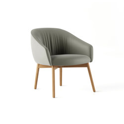 Paloma Lounge Plush Chair - Wooden 4 Leg | Poltrone | Boss Design