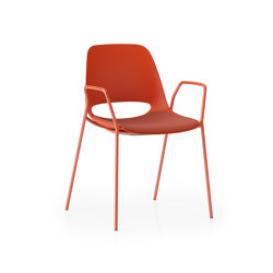Saint 4 Leg With Arms and Upholstered Seat   Chairs   Boss Design